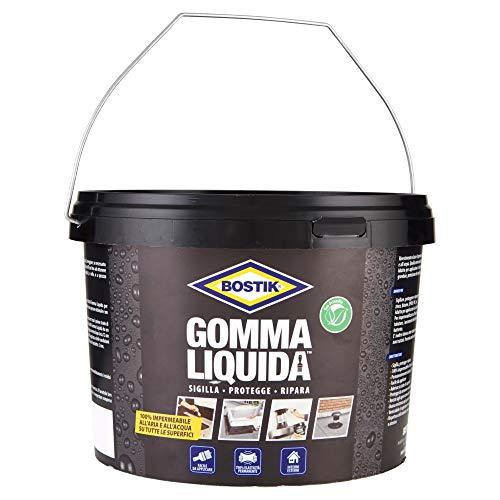 BOSTIK Gomma Liquida rivestimento a base di gomma per sigillature, protezioni e riparazioni 100% impermeabili 5l nero