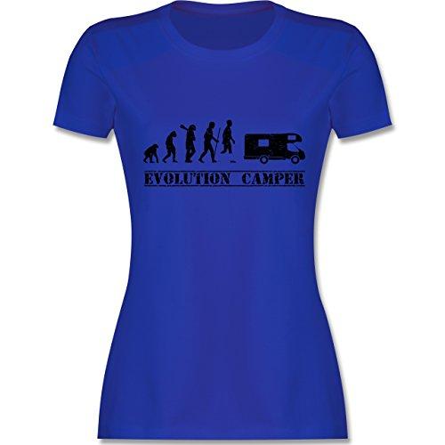 Evolution - Evolution Camper - Damen T-Shirt Rundhals Royalblau