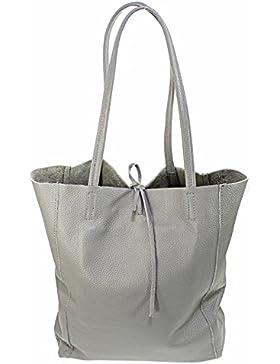 Ital Echt Leder Ledertasche Damentasche Handtasche Shopper Schultertasche
