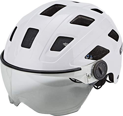 Abus Hyban+ Helmet Cream White, Clear Visor Kopfumfang M/L | 56-61cm 2019 Fahrradhelm