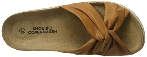 Shoe Damen Braun Biz Sandalen Shoe Slipper leather Cognac Bio Biz Pq75fB