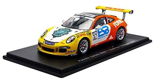 Spark?S4697?Porsche 911/991GT3?Champion Mobil 1Supercup 2015?1/43?Weiß/Gelb/Or Preisvergleich