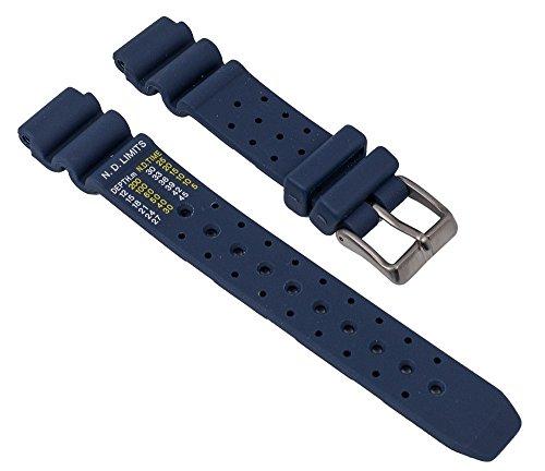 Ersatzband Uhrenarmband Polyurethan Band dunkelblau 15mm passend zu Citizen Promaster Marine EP6051-