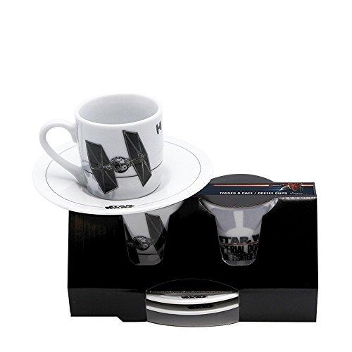 Star Wars - Espresso Tassen 2er Set - Tie Fighter - stabil verpackt im Geschenkkarton!
