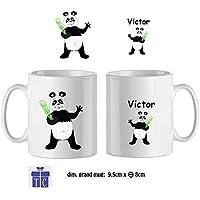Texti-cadeaux-Mug Panda-personnalisé avec un prénom exemple Victor