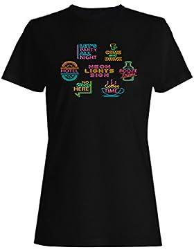 Neon, colección, hotel, novedad, divertido camiseta de las mujeres a956f