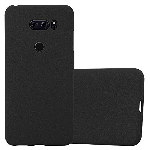Cadorabo Hülle für LG V30 / V30+ / V30s / V30s+ - Hülle in Frost SCHWARZ – Handyhülle aus TPU Silikon im matten Frosted Design - Silikonhülle Schutzhülle Ultra Slim Soft Back Cover Case Bumper