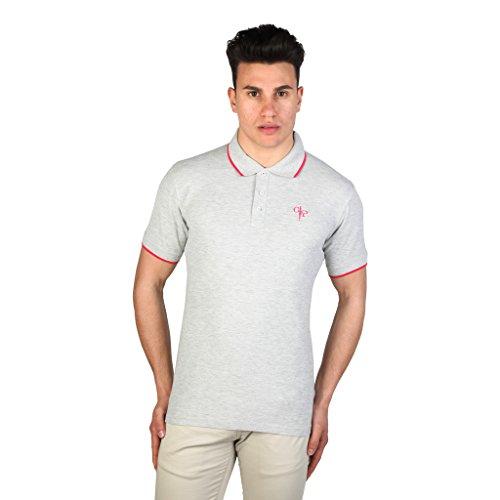 cesare-paciotti-polo-a-manica-corta-in-cotone-uomo-xxl-grigio-chiaro-rosso