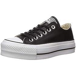 Converse Ctas Lift Clean Ox Black/White, Scarpe da Ginnastica Basse Donna