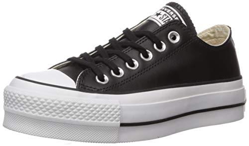 Converse Damen Chuck Taylor All Star Lift CLEAN Sneakers, Schwarz (Black/Black/White 001), 40 EU