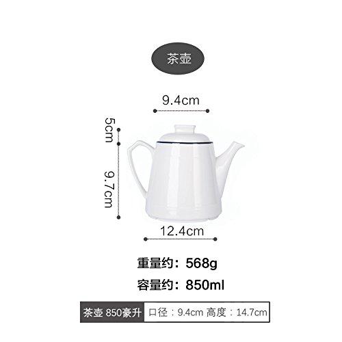 YUWANW Nordic Light Um Den Rand Des Blauen Keramik, Flache Platte Home Gemüsegerichte Suppentopf Reis Schalen Japanische Reis Schalen Des Eintopf, Topf, Tassen Teekocher - Reis Topf Maker