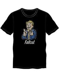 Fallout Vault Boy Pointing Men's Black T-Shirt