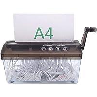 Déchiqueteuse pour feuilles A4 - destructeur de documents manuel pour bureau, école, maison - pour papier et documents