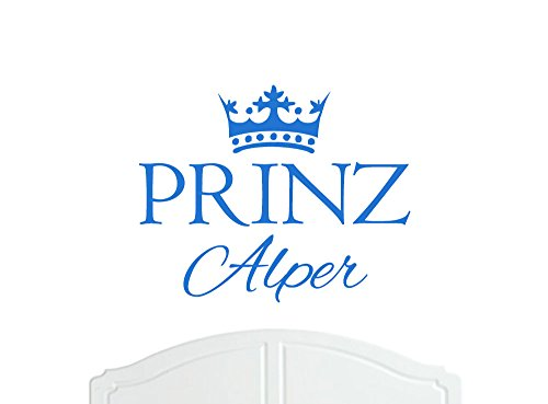 Preisvergleich Produktbild Prinz Alper großer Wand-Aufkleber mit Krone, Wand-Dekoration, Wand-Aufkleber, Tapete, Vinylabziehbild-Wahl der Farben / Sticker