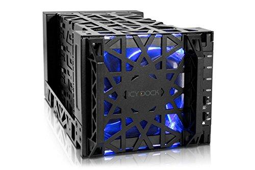 festplatten array Icy Dock Black Vortex MB174U3S-4SB - Externes JBOD-Gehaeuse für 4x 3,5 Zoll (8,9cm) SATA HDDs - USB 3.0 und eSATA - Schwarz