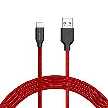 MAGIX USB C Charging Cable 3A , Charge Rapide QC 3.0 , Haute durabilité , transfert des données 480 Mbit/s USB-A 2.0 à USB-C , pour les périphériques USB Type-C (1pcs pack)(Rouge)(120cm)