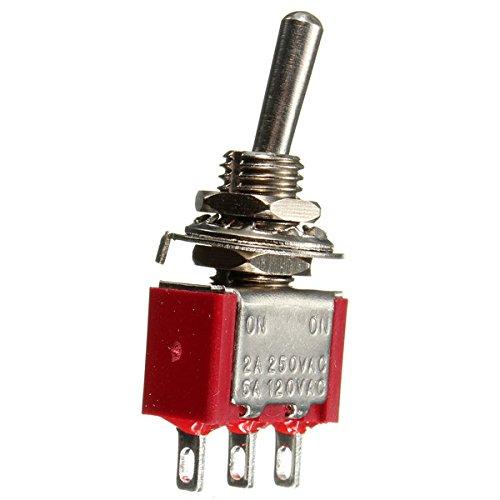 GOZAR Rot 3 Pin On-On Spdt Mini-Kippschalter Ac 6A / 125V 3A / 250V 250 Atv Auspuff