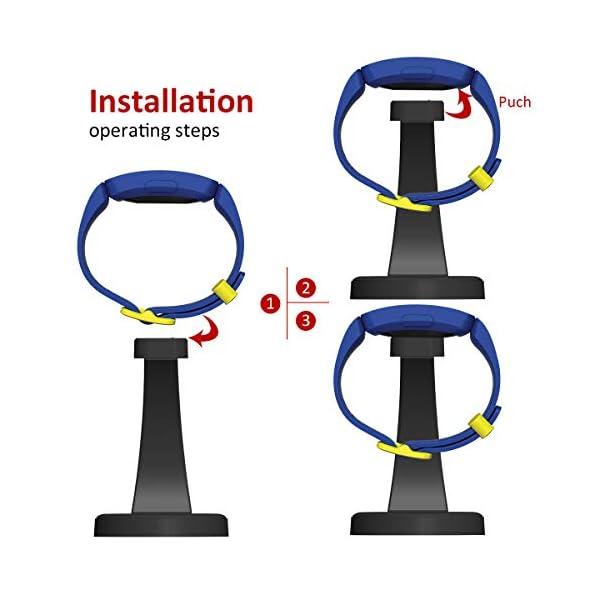 Spguard - Estación de carga compatible con Fitbit Ace 2, Fitbit Inspire HR, cargador con cable USB de 79,3 cm, estación… 5