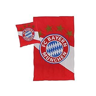 FC Bayern München Bettwäsche rot-weiß, 135x200 cm