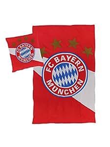 Fc Bayern München Bettwäsche Rot Weiß 135x200 Cm Amazonde Sport