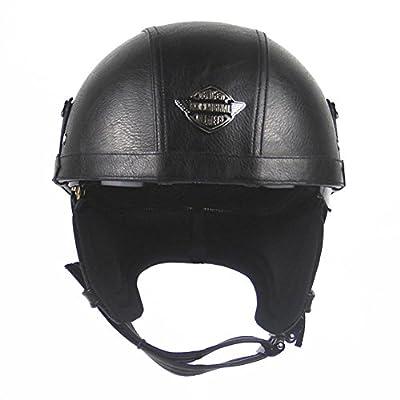Helmet Warrior Motorcycle Half Helmet with Sun Shield for Men & Women, Adjustable Large Face Dot Half Face Bike Cruiser Chopper Moped Scooter ATV's Skull Cap (Large, Patriotic Flagg by Beatie
