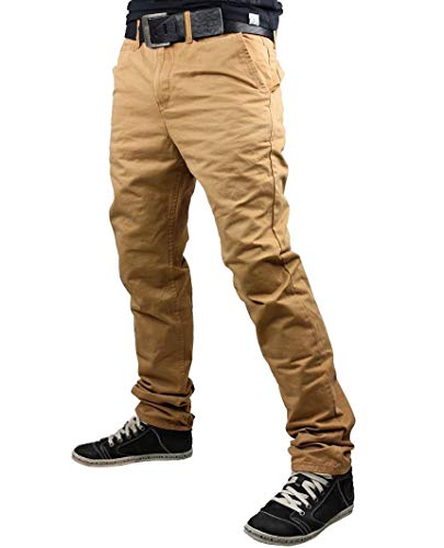 Redbridge Herren Chino Jeans Hose Pants Baumwolle Freizeithose Braun 32/34
