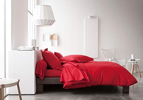 Today - Lenzuola cottone a tinta unita, da 180 x 290 cm, Rosso