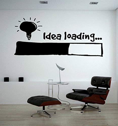 Lsfhb Idee Laden Wandaufkleber Glühbirne Lampe Fenster Auto Diy Aufkleber Aufkleber Vinyl Silhouette Clipart Vektor Plotter Cut Decor56X89 Cm