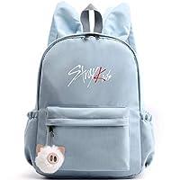 Stray Kids Kpop Backpack Cute Rabbit Ears Schoolbag StrayKids Changbin Hyunjin Felix Seungmin Jeongin Jisung Minho Woojin BangChan for Boys Girls Stray Kids Camping Hiking Rucksack