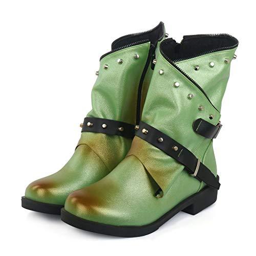 ABsoar Mittellange Stiefel Damen Retro Freizeitschuhe Wildleder Schneeschuhe Klassische Rutschfeste Boots Outdoor Stiefeletten Mode Party Boots