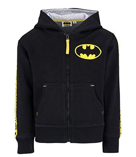 Kinder Comic Kostüm - Batman Sweatjacke mit Kapuze schwarz (116)