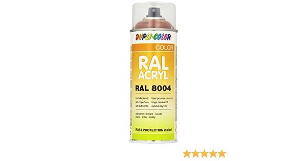 Dupli Color 518522 Ral Acryl Spray 8004 400 Ml Kupferbraun Glanz Auto
