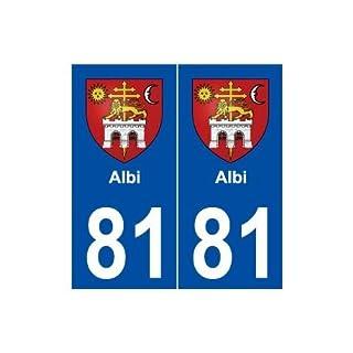 81Albi Wappen selbstklebend Platte Aufkleber Stadt