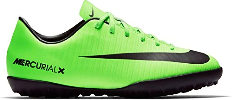 Nike JR mercurialx Vapor XI TF – Electric Green/Black de flash Lim, multicolor, 10C