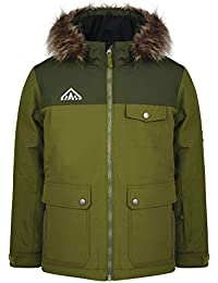 5f15e69fe Dare 2b Children s Reckless and Breathable Faux Fur Hooded Kids Ski  Waterproof Insulated Jacket