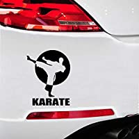 Car Decal Stickers 19.6Cmx25.4Cm Karate Sports Car Styling Car Stickers Motorcycle Decorating Stickers for Car Laptop Window Sticker