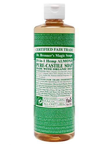 Dr. Bronner - Jabón Castilla líquido orgánico almendra
