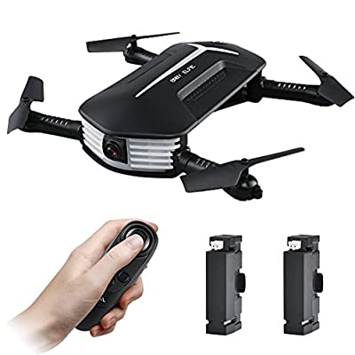 JJR / C H37 Baby ELFIE Foldable Mini Drone , Selfie Drone with Camera Live Transmission WIFI FPV Mobile Phone APP Control G-sensor Control, Automatic Hover 3D Flip Stunt Headless Mode, Suitable for all Level Pilots, 720P HD Camera with Auto Beautify Mode,