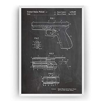 Glock Patent Poster – Jahrgang Drucke Drucken Bild Kunst Geschenke Zum Männer Frau Entwurf Dekor Vintage Art Blueprint Decor – Rahmen Nicht Enthalten