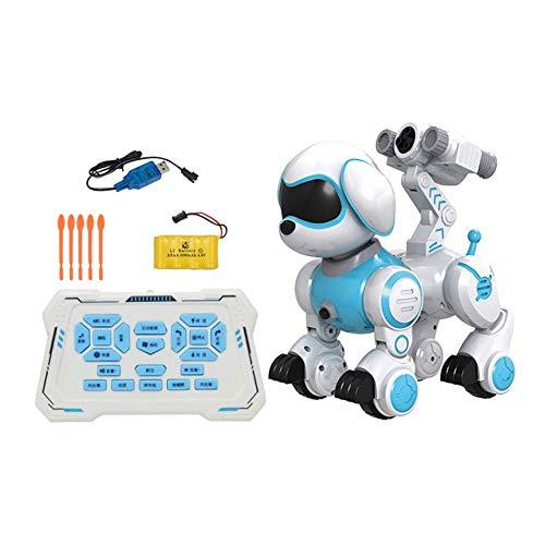 zezego Roboterhund Interaktiver Roboter Hund Elektronisches Haustier Bildung Kinderspielzeug Tanzen Roboter Hund Interaktives Geburtstagsgeschenk