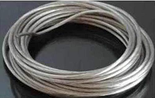12m Seil Kabel 4qmm transparent isoliert für Seilsystem Spannseil Halogen oder Led Kabel (Seil-beleuchtung 12 Meter)
