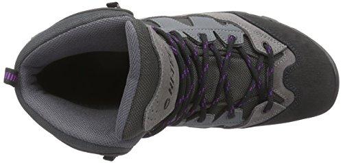 Hi-Tec Maipo, Chaussures de Randonnée Hautes Femme Gris (Charcoal/Grey/Purple 051)