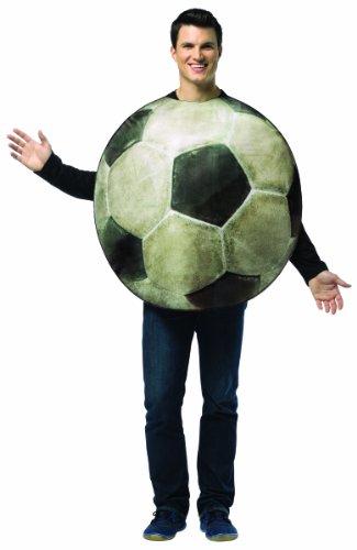Fussball Kostüm Einheitsgröße für Junggesellenabschied und (Kostüm Ball Fußball)
