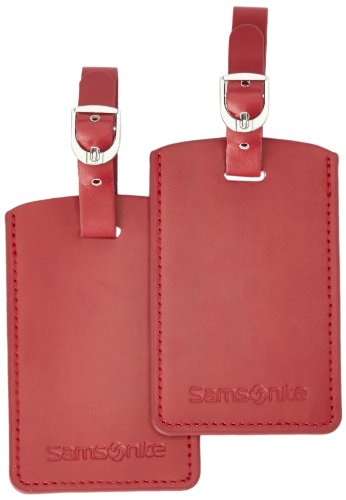 Samsonite 52972/1041 Set di 2 etichette per valigie Rosso