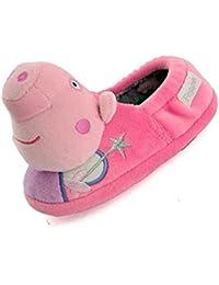 Peppa Pig - Zapatillas de estar por casa para niña Rosa rosa
