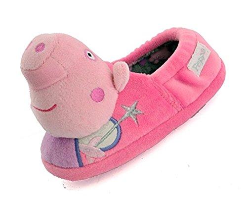 Peppa Pig - Zapatillas de Estar por casa para niña Rosa Rosa, Color Rosa, Talla 27 EU