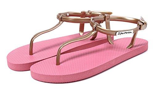 Fortuning's JDS Semplice Gladiator infradito T-cinghie infradito sandali piatti Rosa
