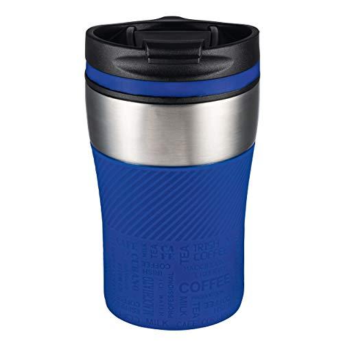 Thermobecher to go - passt unter jeden gängigen Kaffeeautomat Farbe blau, silber