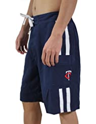 MLB Mens Minnesota Twins athletic sport shorts with swim feed