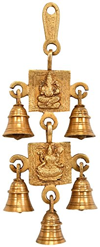 lord-ganesha-and-lakshmi-wall-hanging-bells-brass-statue